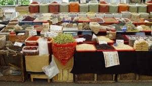 果物と野菜の屋台