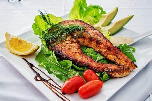 鮭と野菜の皿焼き