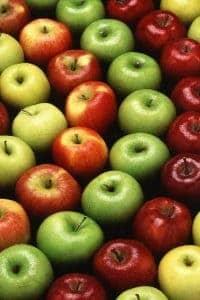 色とりどりのりんご
