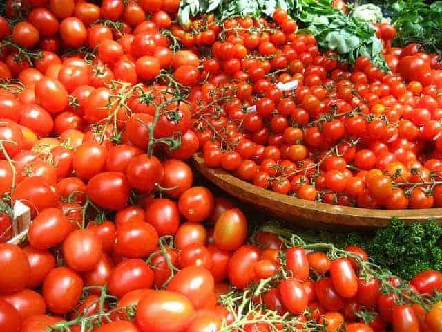 丼にたっぷりトマト