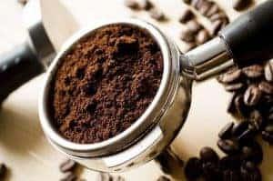 挽いたコーヒー