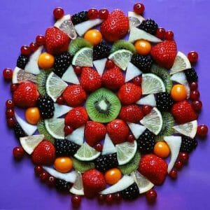 皿の上の果物