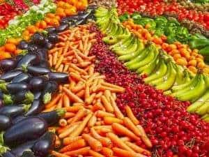 野菜と果物のアレンジ