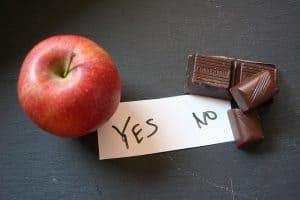 リンゴとチョコレートのキューブ