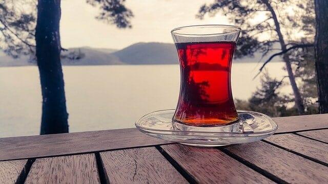 紅茶のグラス
