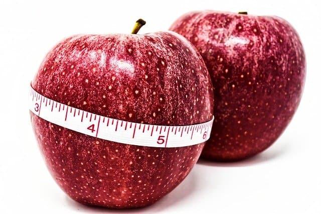 センチで結んだリンゴ、体重管理