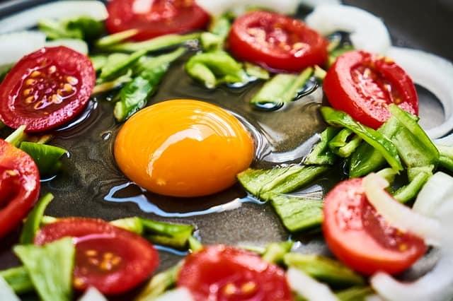 健康食、卵と野菜