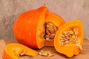 スライスしたかぼちゃの実