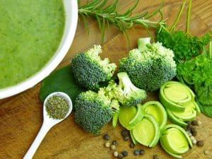 野菜、ブロッコリー、ネギ