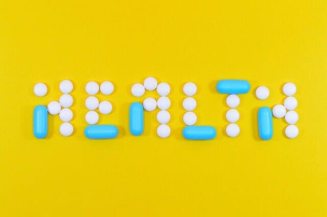錠剤やカプセルをアレンジした健康文字